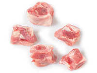 Diced spare rib. Frozen meat
